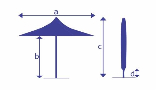 dimensions of vortex parasol