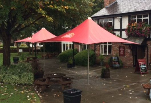 Vortex parasols can be left up all year round