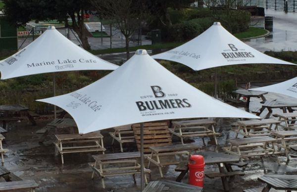 Branding on vortex parasols